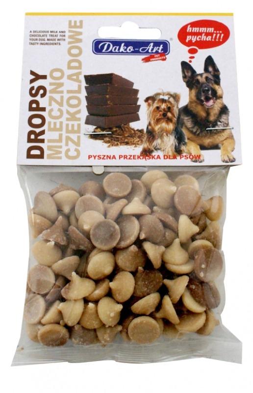 dropsy mleczno czekoladowe pies zawieszka